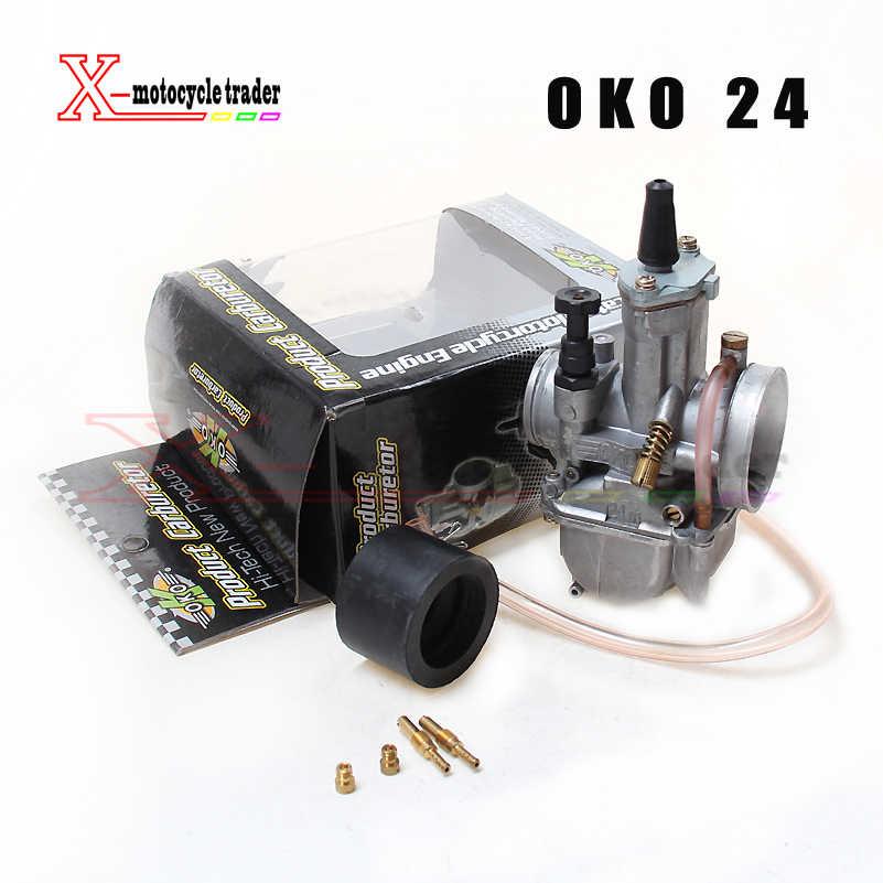 OKO 24 26 28 30 32 34 OKO24 Koso คาร์บูเรเตอร์ Keihin PWK Vergaser Universal สำหรับรถจักรยานยนต์สกู๊ตเตอร์ Motocross Power jets