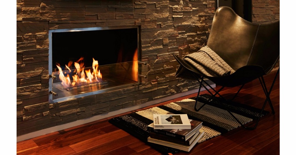 On Sale 24 Inch Stainless Steel Manual Indoor Insert  Bio Ethanol Fireplace