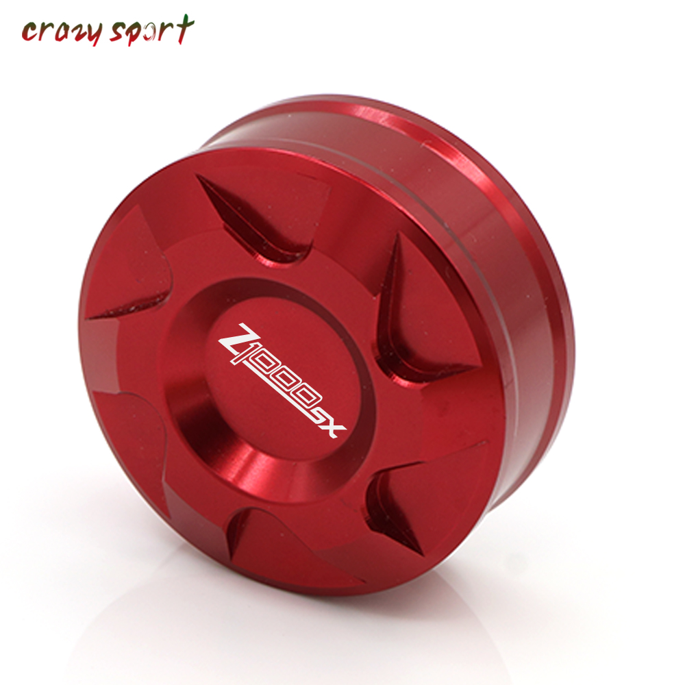 Rear Brake Fluid Reservoir Cover Cap For KAWASAKI Z1000SX Z 1000SX <font><b>Z1000</b></font> SX 2011-2019 <font><b>2018</b></font> Motorcycle Accessories With Logo image