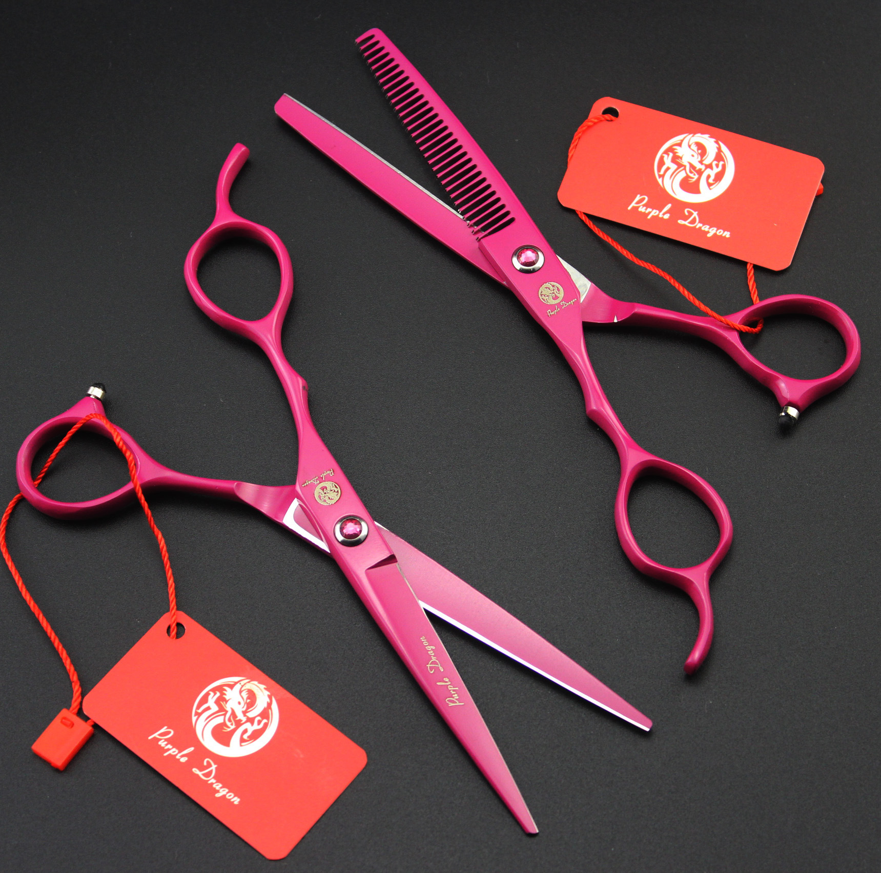 6.0  2Pcs Left Hand Shears Barber Hair Scissors Japan 440C Hairdressing 2pcs pairing left