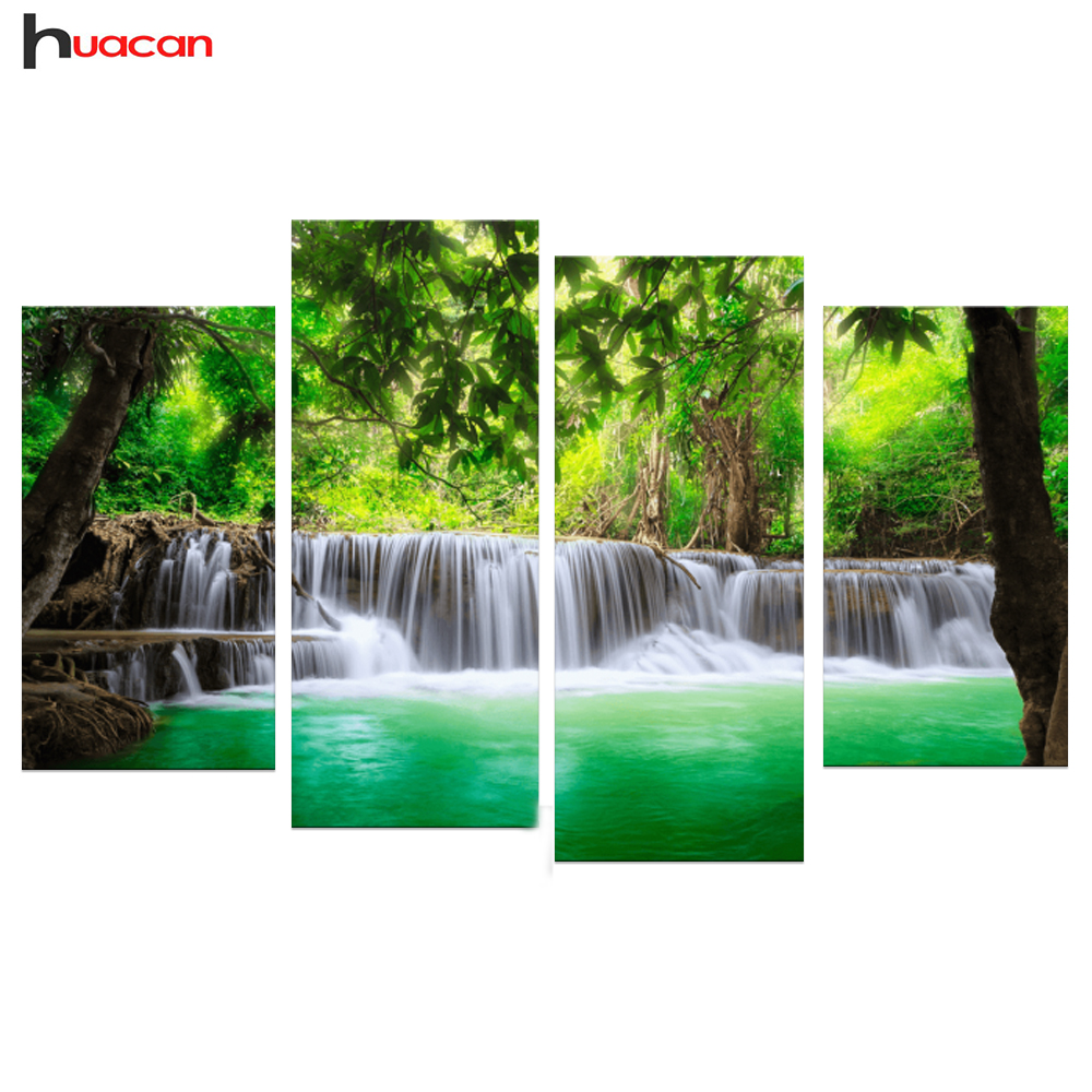 HUACAN Wholesale Diamond Embroidery Kits Cross stitch Season Trees Home Decor Diamond Painting Mosaic Pictures Paint