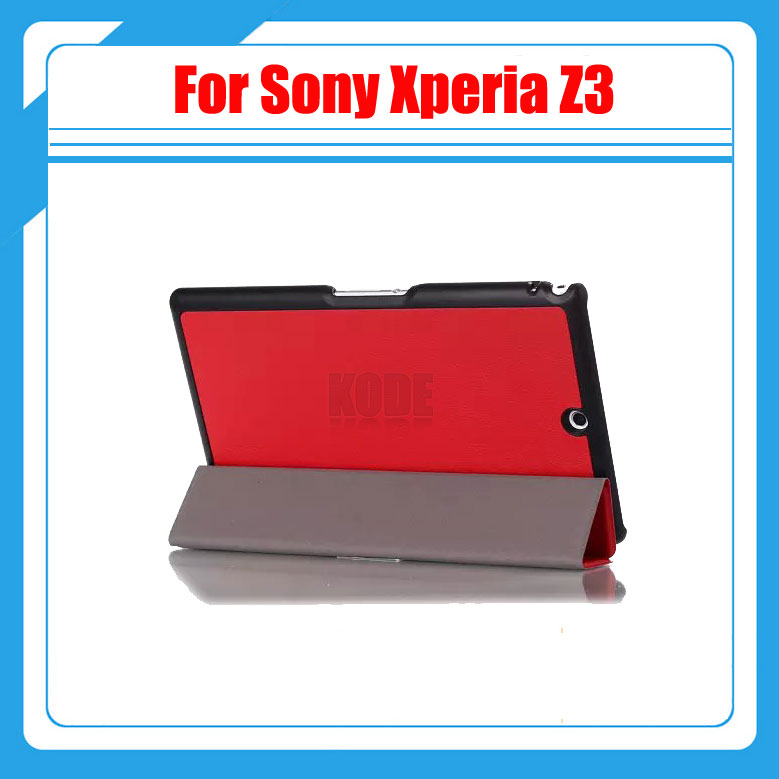 Magnetic Stand For Sony Z3 pu leather Case cover For Sony Xperia Z3 Compact 8 inch tablet cover cases + stylus