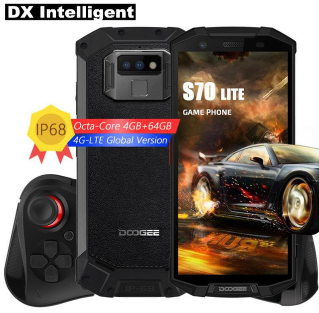 """DOOGEE S70 Lite GamePad IP68 Waterproof Rugged 5500mAh Wireless Charge 5.99""""FHD+ MTK6763 Octa Core NFC Android 8.1 4G SmartPhone"""