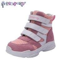 2019 nuevos zapatos ortopédicos para niños otoño primavera Rosa gris soprt zapatos para niñas niños tamaño europeo 21-37
