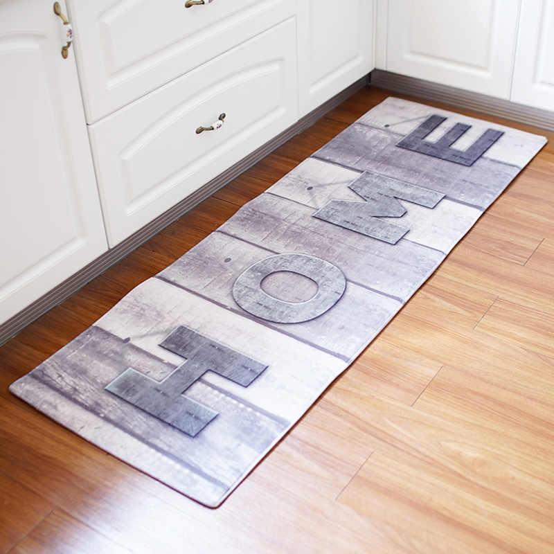 60x180CM antypoślizgowa mata na podłoga w kuchni długa wycieraczka do butów w stylu Vintage dywanik kuchenny antypoślizgowa sypialnia nocna maty