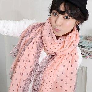 Scarves for Women Fashion 2020 Autumn Winter Long Silk Scarves Dot long soft Shawl Female High Quality Wrap Multi-function Hijab