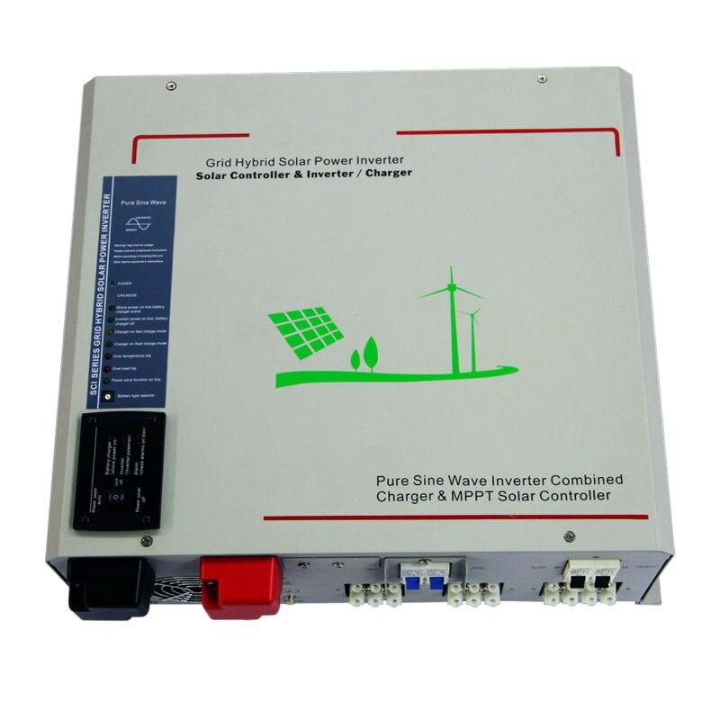 24 V, 1000 W Basse Fréquence Hors-réseau À Onde Sinusoïdale Pure Onduleur Intégré 40A MPPT Contrôleur, sortie 220VAC-240VAC, LED Affichage
