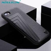 Iphone 7/7 Için Nillkin Artı Kılıf Kapakları Timsah Desen PU Deri + Alüminyum + Yumuşak TPU + PC Hibrid Geri Perakende Paketi ile kapak