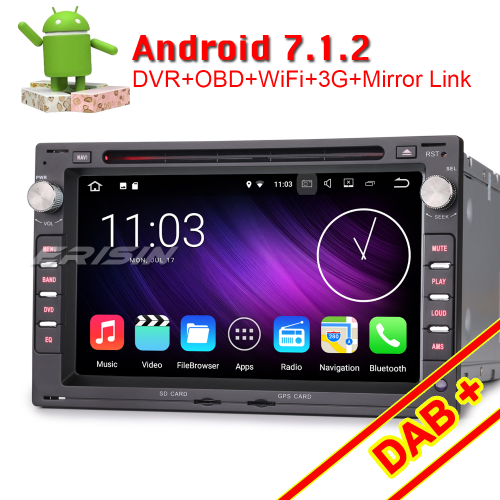 erisin es4748v 7 android 7 1 car gps navigation system. Black Bedroom Furniture Sets. Home Design Ideas