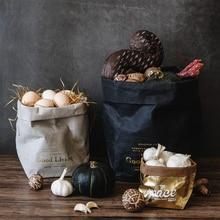 Моющаяся бумага для рукоделия сумка для хранения Nordic небьющиеся растения растут бумага Sundries еда хранения водостойкие сумки организатор дома