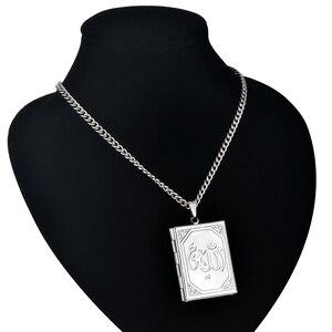 Image 4 - Pendentifs et pendentifs médaillon flottant bijoux islamiques, chaîne en acier inoxydable couleur or, Vintage arabes Allah