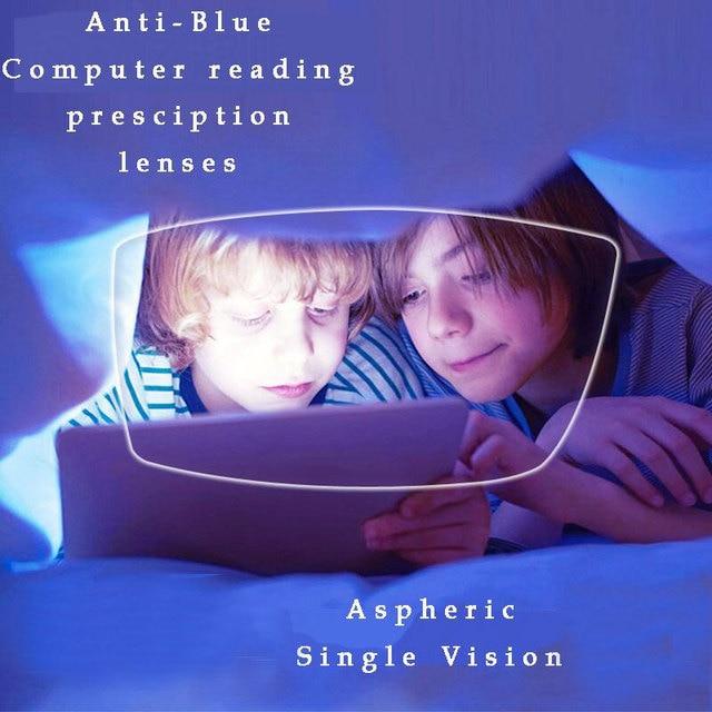1.61 抗ブルーレイ処方光学眼鏡眼鏡レンズ 1 ペア rx できるレンズ送料アセンブリとメガネフレーム