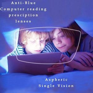 Image 1 - Lunettes optiques 1.61 Anti rayon bleu, 1 paire de lentilles Rx, assemblage gratuit, avec monture de lunettes