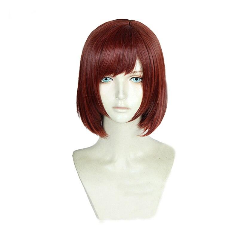 KINGDOM HEARTS 3 Kairi Short Red Brown Heat Resistant Hair Cosplay Costume Wig + Track + Wig Cap