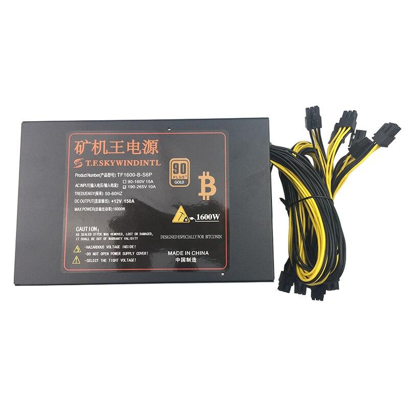Бесплатная доставка, 1600 Вт PC источника питания для бп Antminer S7 S9 L3 + D3 A4 A6 741 E9 Шахтер машина сервера добыча доска PSU bitmain