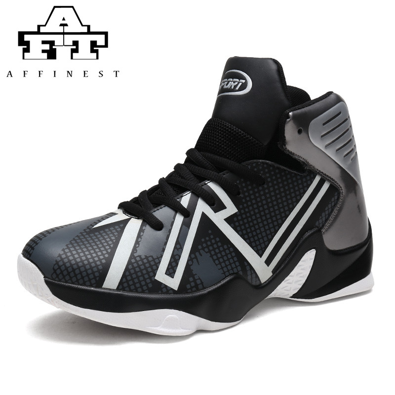 38f7675c1f9 AFFINEST Basketball Shoes For Men Fluorescent Sport Shoes Sneakers Lebron  James Shoes High Top Lace Up