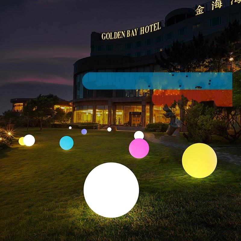 7 цветов RGB светодиодный плавающий магический шар светодиодный светильник для бассейна с подсветкой IP68 уличная мебель для бара настольные л...