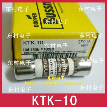 US BUSSMANN fuse Limitron ceramic fuse KTK-10 10A 600V KTK-10
