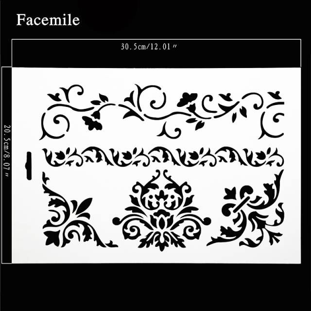 Online Shop Flower Lace Stencil For Wedding Cake Design Plastic