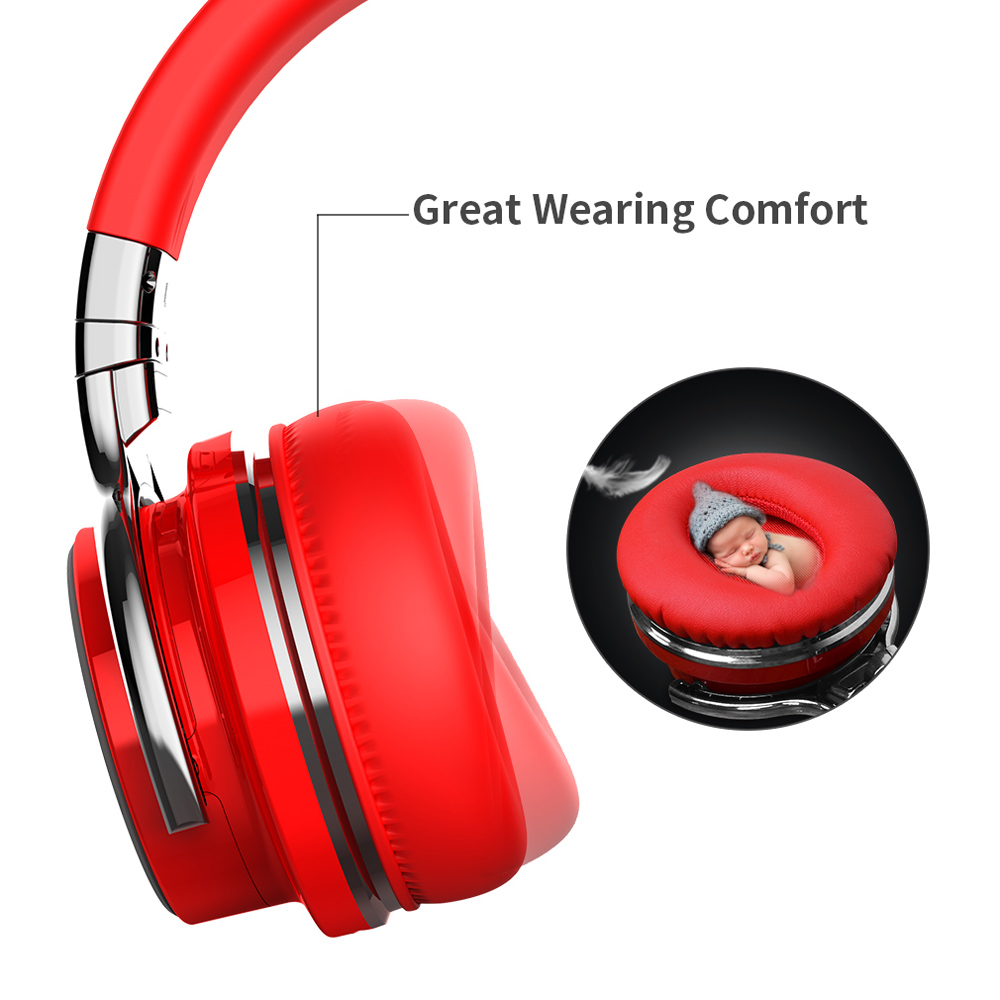 Cowin E7 Pro Bluetooth Headphone Wireless Gaming Earphone Noise Cancelling  Stereo Headset For Travel Work Smartphone Game Player