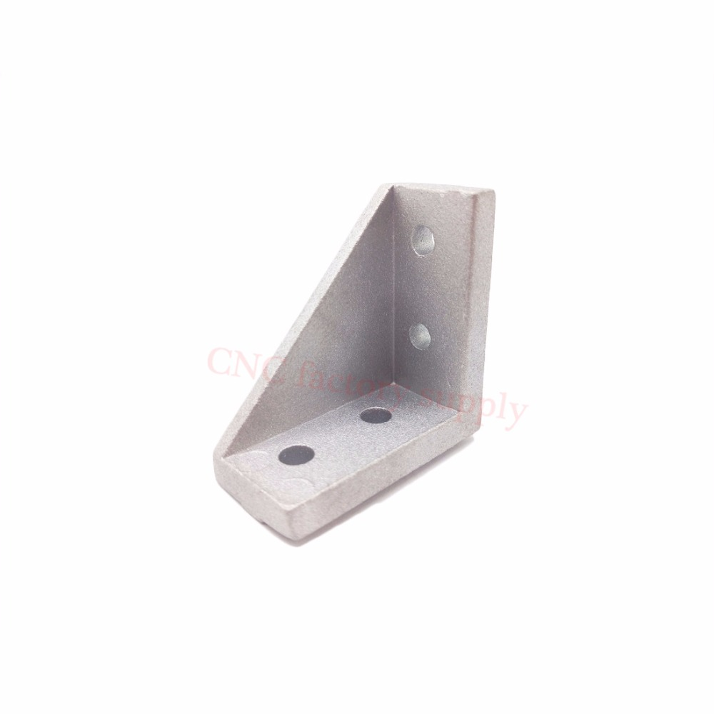HOTSale 2040 corner fitting angle aluminum 20 x 40 L connector bracket fastener match use 2040 industrial aluminum profile 20pcs 4040 corner fitting angle aluminum 40 x 40 x 35mm connector bracket fastener match 4040 industrial aluminum profile