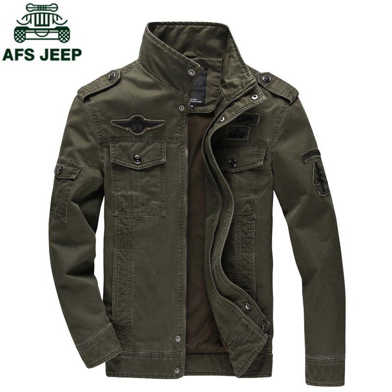 New 2018 Casual Army Military Jacket Men Plus Size M-6XL Jaqueta masculina Air force one Spring & Autumn Cargo Mens Jackets Coat