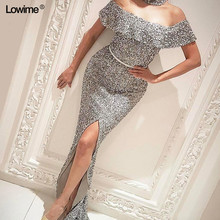 Lowime Mermaid Prom Dresses Floor Length Evening Dresses