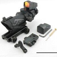 JJปืนACOGสไตล์4x32สว่างกับD OcterมินิRed Dot (สีดำ)จัดส่งฟร