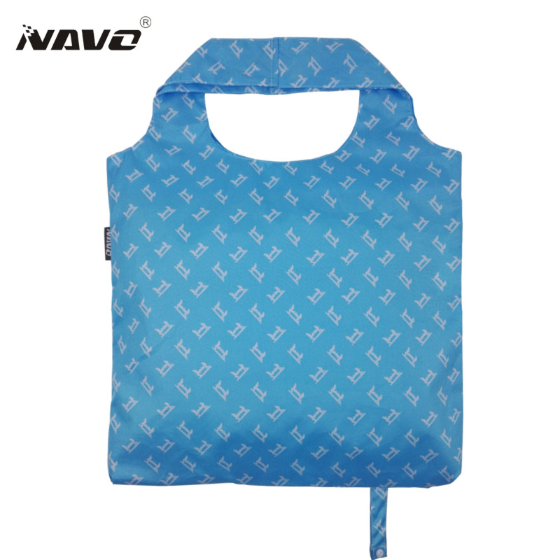 NAVO Brand Pongee fabric shoping bag foldable reusable grocery bags polyester shopping bags fashion designer casual tote bag bag wholesale eco reusable shopping bags cloth fabric grocery packing recyclable hight simple design healthy tote handbag trendy