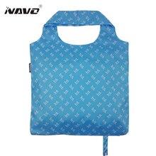Наво бренд pongee ткань Торговый Сумка Складная Многоразовые мешки сумки полиэстер модная дизайнерская Повседневная сумка