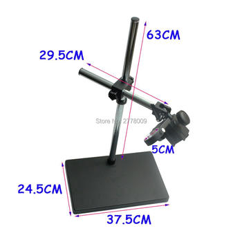 Big Size Large Dual-arm Heavy Duty Boom Stereo Metal Table Stand 50mm Ring Holder For Lab Microscope Digital Industry Camera
