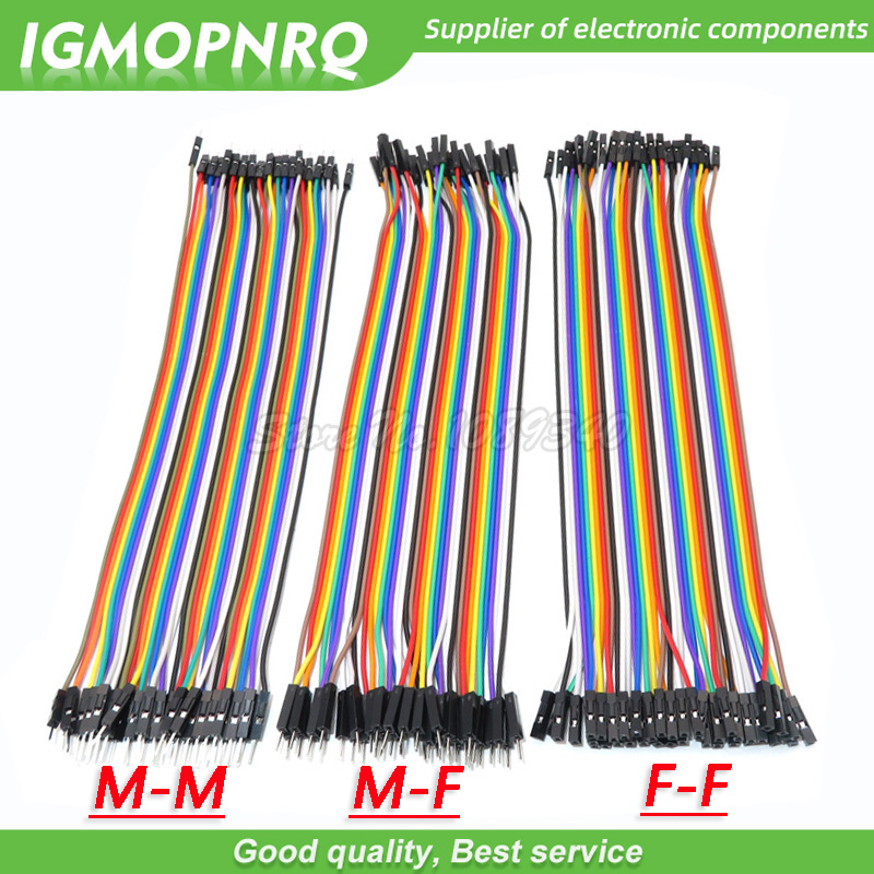 120pcs 40PIN 20CM Dupont Line Male To Male + Female  And Female To Female Jumper Dupont Wire Cable For Arduino DIY KIT GMOPNRQ