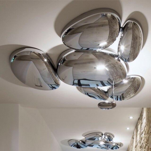 LED Postmodern Nodic Alloy Chrome Water Drop Chandelier Lighting LED Lamp LED Light For Foyer Bedroom Dinning Room