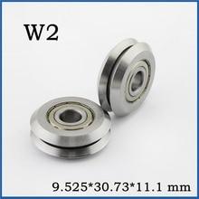 5 шт./лот V/W шкив с канавкой колесные подшипники W2 W2X VW2X RM2 RM2X RM2ZZ трек направляющий подшипник 9,525*30,73*11,1 мм
