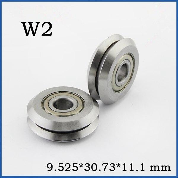 W1 Deep V Groove W-rail Guide Line Track Pulley Rollers Ball Bearings SteelModel