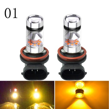 Super Bright 100W 1800LM H10 H16 H11 LED Fog Running Light Vehicle Head Light Bulb Lamp DC 12V image
