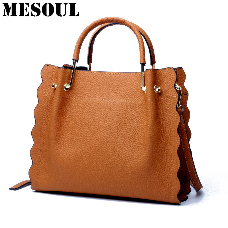 Bolsos Mujer New Handbags Genuine Leather Bag Female Large Capacity Tote Shoulder Bags Fashion Shoulder Bag Women Messenger Bags 2017 new leather handbags tide europe and the united states fashion bags large capacity leather tote bag handbag shoulder bag