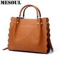 Bolsos Mujer New Handbags Genuine Leather Bag Female Large Capacity Tote Shoulder Bags Fashion Shoulder Bag