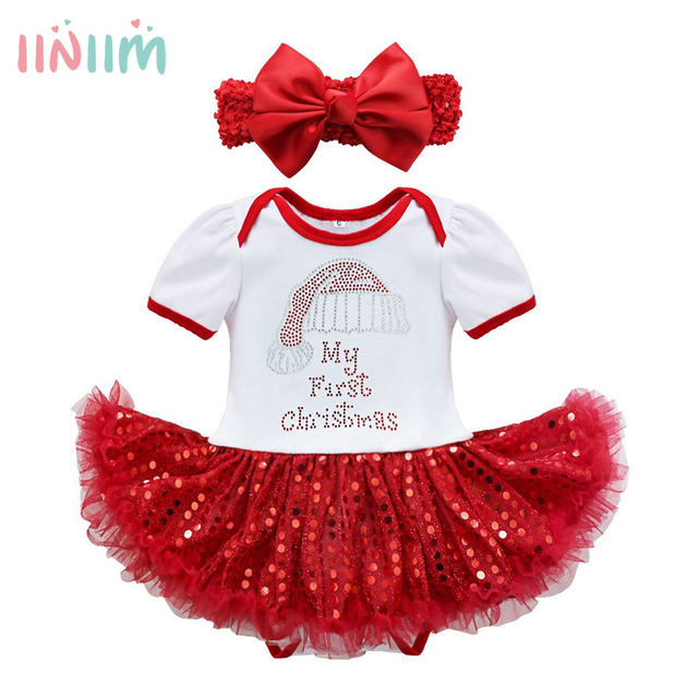 New Years Family Christmas Pajamas Costumes Infantil Newborns Toddler Baby  Girls Christmas Dress Outfits Party Rompers 9168f8f2b6d7