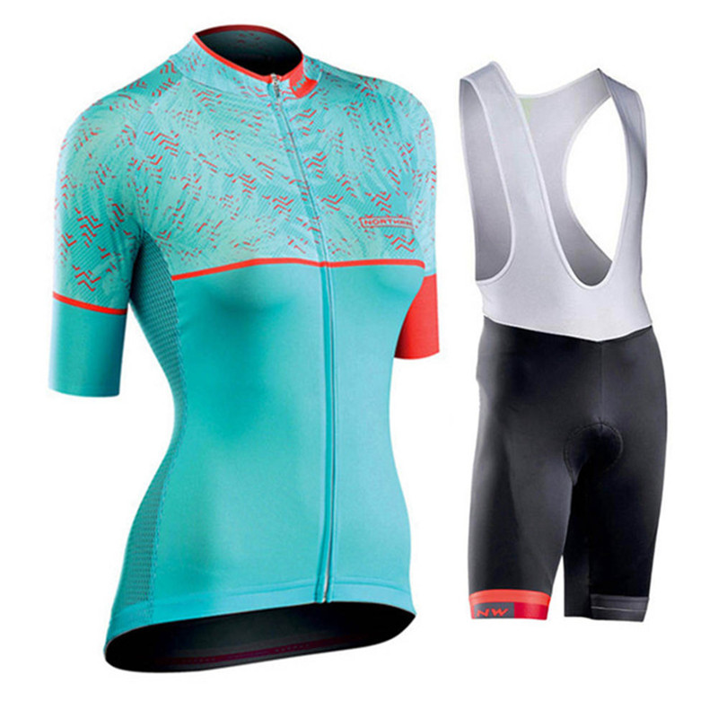 2019 Pro Team Summer Women Cycling Jersey Short Sleeve Sets Clothes Quick-drying Bicycle Triathlon Cycling Jersey Sets