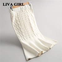 Liva Girl Women S Skirts Mermaid Skirt Solid Color High Waist Stretch Fishtail Skirt Linen Knit
