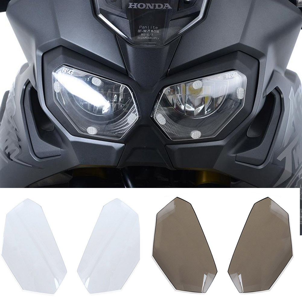 Motorcycle Front Headlight Screen Cover Shield Guard Lens Protector for 2016-2017 Africa Twin Honda CRF1000L kemimoto for honda 2016 africa twins crf 1000l motorcycle headlight lens guard roof protection for honda crf1000l africa twin
