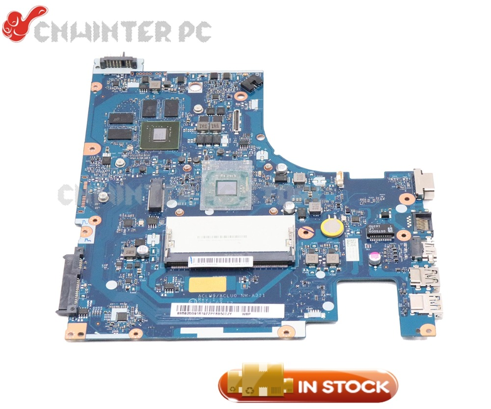 NOKOTION ACLU9/ACLU0 <font><b>NM</b></font>-<font><b>A311</b></font> Laptop Motherboard For Lenovo G50-30 G50 MAIN BOARD 820M 1GB with Processor onboard image