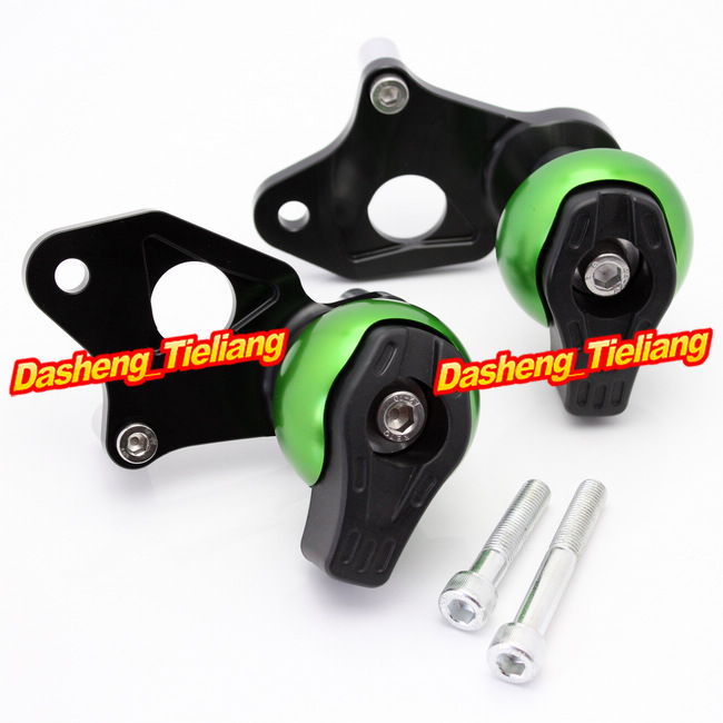 For Suzuki GSXR 600 750 2006-2010 K6 Frame Sliders Crash Pads Protector, Motorcycle Spare Part, Green Color