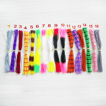 POETRYYI Mixed Color Silicone Skirts for Spinnerbait Buzzbait Rubber Jig Lures Squid Fly Tying Material
