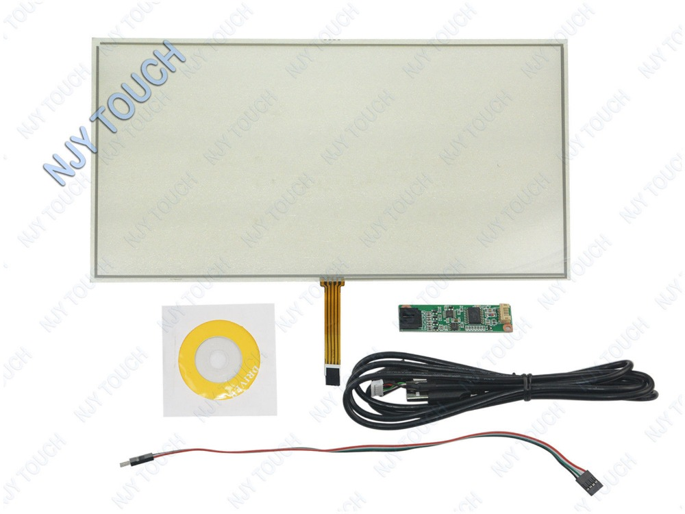 New 15.6 Inch 4 Wire Film to Film Resistive Touch Screen Panel with USB Controller kit for 15.6 Laptop new 10 1 inch 4 wire resistive touch screen panel for 10inch b101aw03 235 143mm screen touch panel glass free shipping