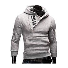 Hoodies Men 2019 Spring Fashion Tracksuit Sweatshirt Men's Winter Warm Collar Cap Long Sleeves Pullover Hoody Sports Sweatshirts