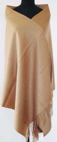 Moda camello mujer otoño invierno 100% lana Pashmina caliente de espesor Color sólido del cabo Tippet mantón bufanda del hijab 180 x 72 cm C-039
