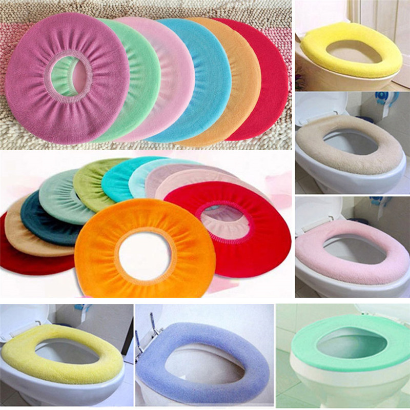 New Bathroom Warmer Toilet Closestool Washable Soft Seat Cover Pads P0.21
