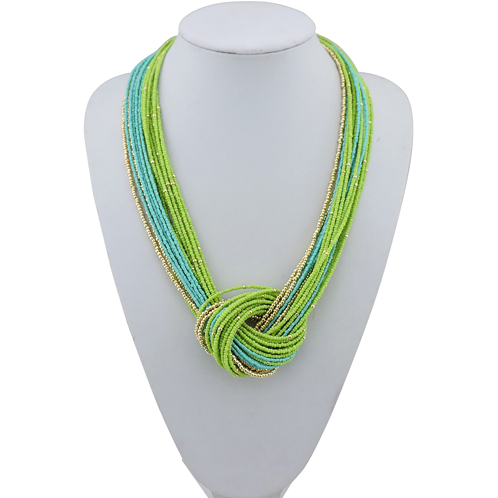 2016 new Womens fashion Jewelry Multi-layer turquoise Necklace sweater chain hot and trendy